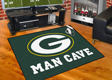"Green Bay Packers NFL Man Cave 34""x43"" All-Star Area Rug Mat"