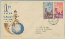 74851 - INDIA - POSTAL HISTORY - Cacheted FDC COVER Asian Games 1951 - SPORT
