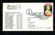 US FDC #2414 a la GEORGE 1989 PA Executive Branch Unofficial Zip Code