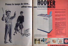 PUBLICITÉ HOOVER UNE HOOVERMATIC LA MACHINE À LAVER LA PLUS RAPIDE DU MONDE