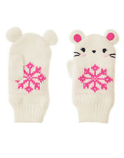 NWT Gymboree Fair Isle Flurry Mouse Snowflake Mittens 2T 3T Toddler Girl