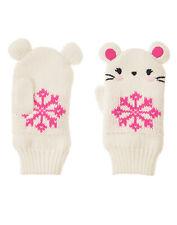 NWT Gymboree Fair Isle Flurry Mouse Snowflake Mittens 2T 3T Toddler Girl