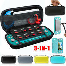 For Nintendo Switch Lite Carrying Travel Hard Case Bag+Shell Cover+Temper Glass