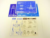STAR WARS BLUEPRINT LOT OF 5 X-Wing (x2) AT-ST (x2) Tie Fighter Instruction 1995