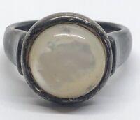 Vintage Sterling Silver Ring 925 Size 8 White Stone Designer GV china