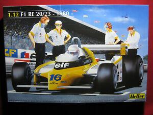 BIG 1980 Renault Elf RE 20/23 F1 Formula 1 Racing Heller 1/12 Model Kit France