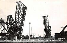 Sault Ste Marie Michigan~Bascule Jack Knife Bridge~Steamer Sultana~1948 RPPC