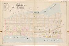 1896 ATLANTIC CITY NEW JERSEY, INSIDE THOROUGHFARE - ATLANTIC OCEAN ATLAS MAP
