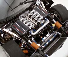 1 Racer Chevy Vette Corvette Vintage Race Sport Car Carousel Silver 18 Metal 12