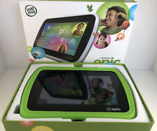 LeapFrog Epic Tablet for Kids - Fantastic Condition! Green 16GB w/ Games etc.