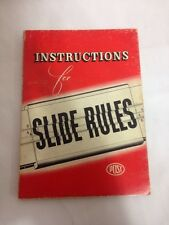 INSTRUCTIONS FOR SLIDE RULES - 1945