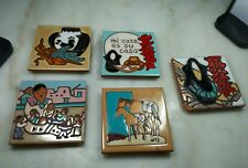 """Mag Mor Hand Painted 4"""" Tile Southwest Art Style Lot Of 5 In All, Great Deal!"""