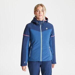 Dare 2B Women's Enclave Waterproof Insulated Hooded Ski Jacket - Blue Navy