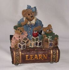 "Nice Vintage Collectible Boyds Bears Music Box ""Learn"" Good Used Working Cond.!"
