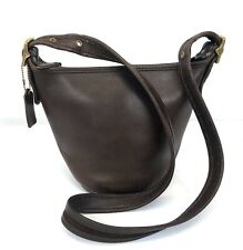 Vintage Coach 9019 Maggie Small Bucket Bag Hobo Style Crossbody Dark Brown