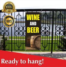 Wine And Beer Banner Vinyl / Mesh Banner Sign Flag Many Sizes Fall Festival