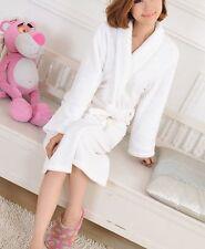 Women Men Coral Fleece Warm Bathrobe Night Gown Flannel Winter Kimono Sleep Robe
