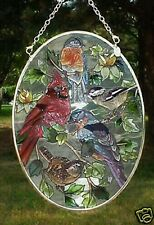 "Group of Birds AMIA (tm) 7"" Window Hanging Suncatcher w/chain AM 8348"