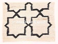 Indian Handwoven 2x3 ft Kilim Rug Hamper Jute Floor Carpet Meditation Mat Carpet