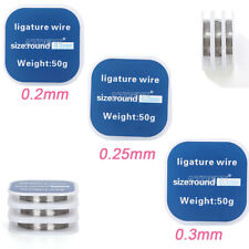 Dental Orthodontic Ligature Wire Stainless Steel Round 0202503mm 1 Roll50g