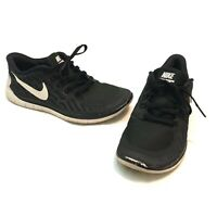 Nike Free 5.0 Youth Size US 5.5 Youth EUR 38 Running Shoes Black White