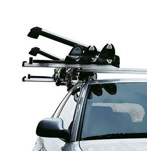 Alloy Roof Rack Ski Snow Board Carrier Holder Lockable Slideable