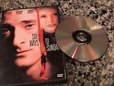 Six Ways To Sunday DVD! 1997 Crime Drama! Videodrome Spun Union City Heavy
