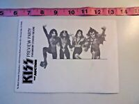 KISS Preview Part The Auction Invitation Paramount Studio Gene Simmons RARE  B26