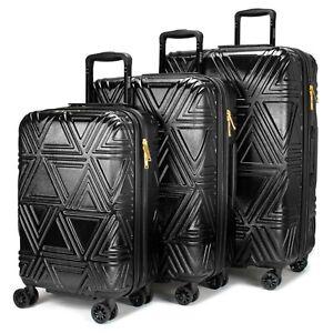 BADGLEY MISCHKA Contour 3 Piece Expandable Spinner Luggage Set