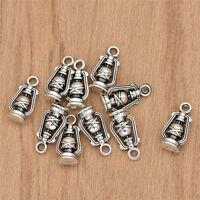 10x 3D Lantern Pendant Silver Pendant Bracelet Charm DIY Jewelry Necklace Making