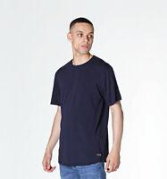 Edwin Terry Navy T-Shirt Dark Blue Plain Top for Men with Crew Neck Regular Fit