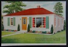 Concrete Block Stucco House 1949 How-To build PLANS 26' x 32'