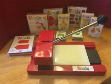 SIZZIX Original Red Die Cutter Cutting Machine +9 Dies Xmas Easter Flowers Tags