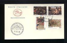 1993  ITALIA FDC CAVALLINO 27.11.1993 MUSEI E ARCHIVI DI SATTO SERIE 4 VALORI