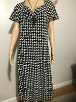 NWT Women's  LIZ CLAIBORNE Dress Size 16 color BLK/SAND  Short Sleeve