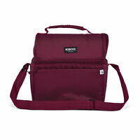 Igloo REPREVE 14 Can Portable Recycled Lunch Pail Cooler with Strap, Maroon