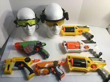 Nerf Lot Of 6 Guns And Spy Gear Lot Goggles Glasses All Working Fast Shipping