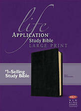 Life Application Study Bible-NKJV-Large Print by Tyndale House Publishers (Leather / fine binding, 2013)