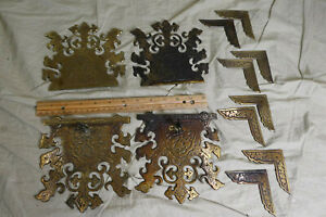 Antique B&R Brass Hardware/Decorations/Latch/Corners for Chest/Trunk (Birds)