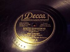 Bing Crosby 78 WHITE CHRISTMAS / +1 FREE XMAS 78 /GOD REST YE MERRY edgeflake VG