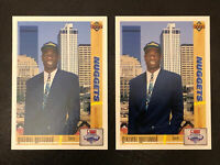 (2) 1991-92 Upper Deck Dikembe Mutombo Card #3 NM-MT Rookie RC 2-Pack Nuggets