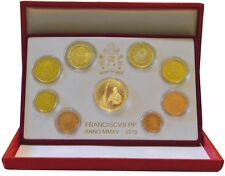 BE VATICAN 2015 Vaticano 9 pièces 53,88 euro 50 or gold oro FRANCESCO PP Proof