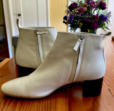 Women's Everlane Buttery Soft Italian Leather Day Boots W/ Box Bone White Size:9