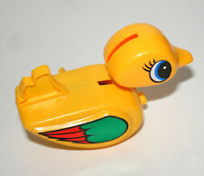 Vtg Plastic Dizzy Duckling Duck Swimming Key Wind-Up Toy 1970s Nos New Hong Kong