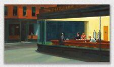 Edward Hopper  Nighthawks  84x152cm STAMPA TELA CANVAS PRINT TOILE LIENZO QUADRI