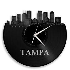 Tampa Florida Vinyl Wall Clock Cityscape Souvenir Home Living Room Office Decor