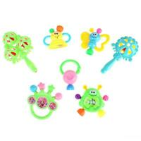 7pcs Plastic Hand Jingle Shaking Bell Rattles Toys Newborn Teether Baby Toy H1