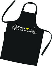 70th BIRTHDAY / Cooks / Chefs Full Length Apron / Superb Quality / Birthday Gift