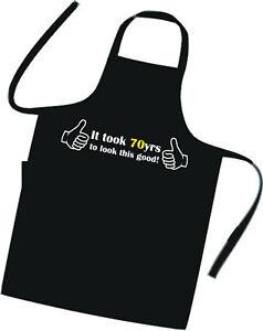 70th BIRTHDAY / Cooks / Chefs Full Length Apron / Superb Quality / Birthday Gift