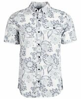 Hurley Mens Shirt White Gray Size Small S Button Down Floral Printed $50 #237
